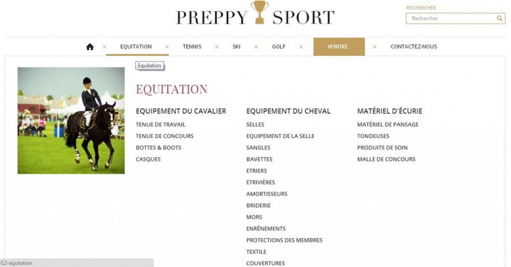 Preppy sport pour The Horse Riders
