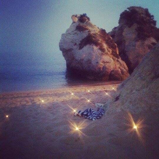 Soirée sur la plage au Portugal