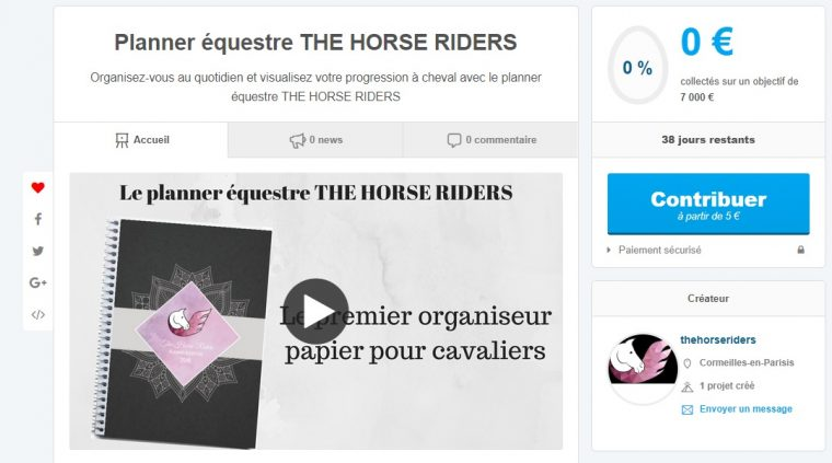 Planner équestre THE HROSE RIDERS